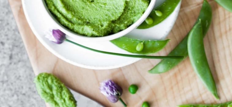 Guacamole av gröna ärtor
