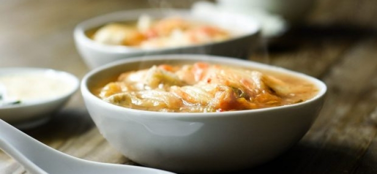 Soppa med Rädisor och Kimchi