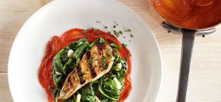 Rostad tomatsås med vitlök