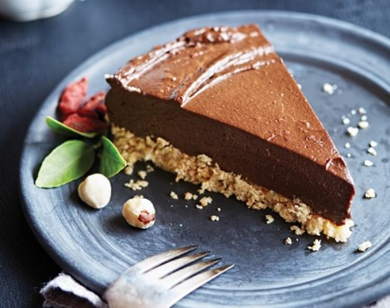 Vegansk Avokado Chokladtårta